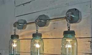 Бра в стиле «лофт»: настенные светильники с гирей и выключателем на корпусе, как сделать своими руками