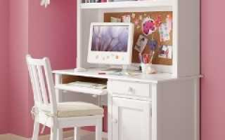 Письменный стол для девочки (38 фото): детский белый красивый стол для подростка