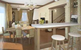 Барная стойка в гостиной (44 фото): барная мебель в стиле «прованс», дизайн интерьера зала в квартире с барной стойкой
