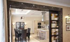 Раздвижные двери на кухню (24 фото): межкомнатные перегородки между гостиной и кухонной зоной, разделение зала и столовой комнаты раздвижными дверями