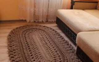 Ковры, вязаные крючком из шнура (31 фото): великолепные изделия из полиэфирного шнура в стиле «шебби-шик»