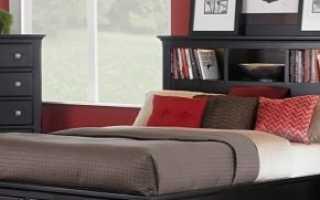 Кровати с тумбой в изголовье: мебель с широким и длинным изголовьем, варианты со встроенными тумбочками