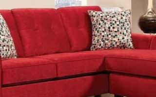 Красный диван (51 фото): мебель черно-красного цвета в интерьере