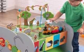 Игровые столы для детей: развивающий трансформер для ребенка от 1 года до 3 лет