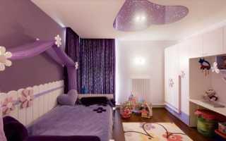 Натяжные потолки в детскую комнату для девочки (69 фото): для подростка