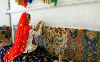 Тканые ковры: вытканый ковер-килим, домотканые пестротканые модели на пол
