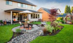 Дизайн двора частного дома своими руками (43 фото): как красиво оформить участок в деревне