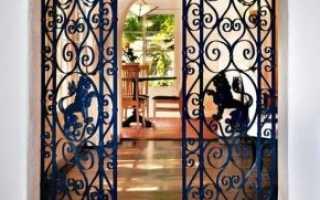 Решетчатые двери: входная дверь с окном, конструкция раздвижных металлических решеток, железные изделия