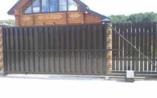Ворота с калиткой (46 фото): садовые ворота из евроштакетника с калиткой внутри, варианты для частного дома