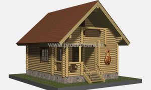 Проекты бань с мансардой (76 фото): дом-баня с верандой или террасой размером 6х6 и 6х8