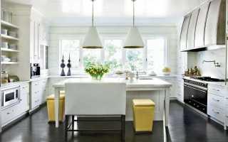 Кухня с темным полом (60 фото): дизайн интерьера для белой и светлой кухни с черным полом
