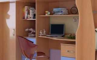 Уголок школьника со шкафом для одежды (35 фото): детский письменный стол с книжным шкафом