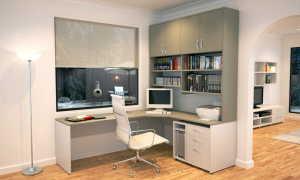 Угловой компьютерный стол со стеллажом (20 фото) особенности выбора и размещения в интерьере