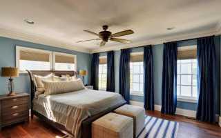 Голубые обои в спальне (54 фото): интерьер в голубых тонах, как подобрать шторы