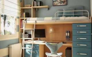 Двухъярусные кровати со столом (35 фото): трансформер с выдвижным столиком и шкафом внизу