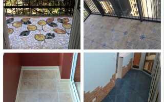 Плитка на пол на балкон (34 фото): теплый электрический пол и морозостойкие образцы