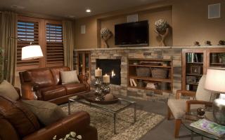 Дизайн комнаты с камином (44 фото): электрокамины в квартире, каминная комната с телевизором