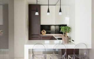Ниша в стене на кухне (40 фото): дизайн помещения с серой панелью
