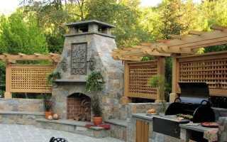 Барбекю-камин (34 фото): садовая шашлычница на улице, для закрытой террасы или веранды