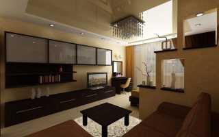 Интерьер кухни совмещенной с гостиной: 20 фото