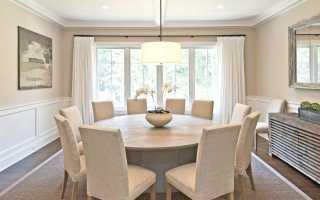 Круглые белые столы: стильный консольный полукруглый столик в интерьере