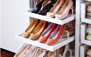 Полки в шкаф для обуви: системы для хранения, выдвижные подставки, сетки и решетки