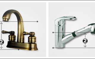 Смеситель с длинным изливом для ванны: что такое излив изделия, длина излива для крана