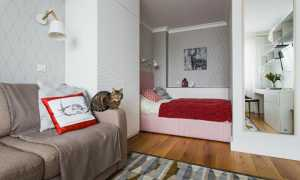 Дизайн однокомнатной квартиры (165 фото): проект ремонт 1-комнатной квартиры площадью 33 кв. м, идеи интерьера