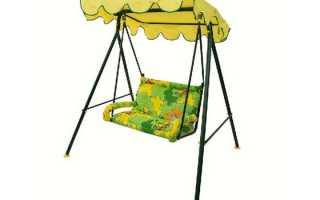 Детские садовые качели: модели для детей Чебурашка и Солнышко