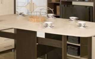 Размеры столов-книжек (22 фото): какие стандарты