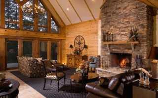 Гостиная с камином в доме (33 фото): планировка камина в загородном частном деревянном или каменном доме