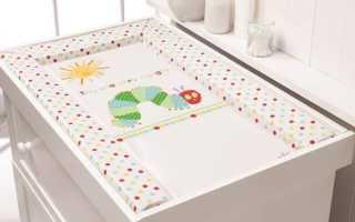 Матрас на пеленальный комод: непромокаемая пленка для пеленального столика