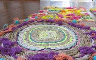 Ковры из трикотажной пряжи: прямоугольные фантазийные коврики из трикотажной ткани