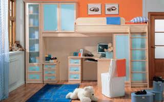 Детская кровать-чердак (106 фото): модель Подиум для детей от 3 и 5 лет
