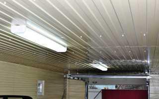 Потолок в гараже (39 фото): чем обшить дешево и красиво