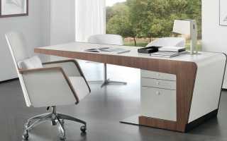 Cовременные письменные столы (24 фото): модные глянцевые модели с комодом