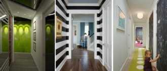 Дизайн узкого коридора (81 фото): как визуально расширить длинное помещение в квартире