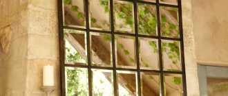 Виды и правила размещения зеркального панно