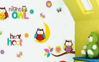 Обои для детской с совами (24 фото): модели на стену в интерьере комнаты