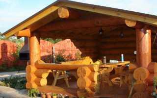Беседки из бревна (68 фото): постройки из оцилиндровки, рубленные бревенчатые конструкции с мангалом