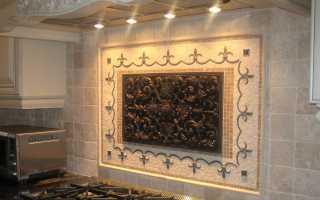 Панно из плитки на кухне (52 фото): на стену в виде кухонного панно