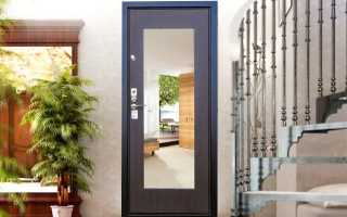 Металлические двери с зеркалом (21 фото): изделия из металла с зеркалом внутри, железная дверь