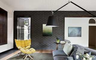 Кирпич в интерьере квартиры (42 фото): кирпичная стена в современном дизайне