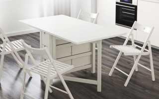 Складные столы Ikea (27 фото): раскладные деревянные модели-раскладушки для дома и пристенные на балкон