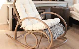Кресло-качалка из ротанга: круглая плетеная мебель из искусственной лозы, отзывы