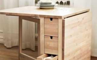 Раскладные столы-тумбы (33 фото): размеры складных тумбочек с ящиками