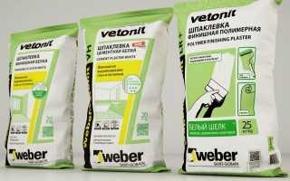 Шпаклевка Vetonit: шпатлевка LR, ТТ и КР, технические характеристики и расход на 1 м2