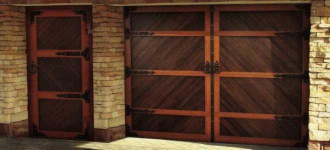 Гаражные ворота из дерева ( 22 фото): особенности деревянных конструкций для гаража