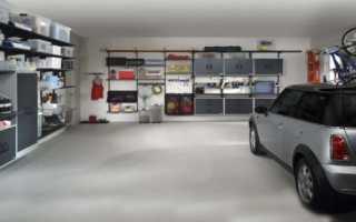 Металлические стеллажи для гаража: навесные сборные настенные полки своими руками
