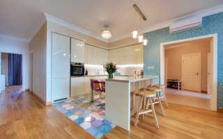 Дизайн плитки для пола на кухню (70 фото): напольная покрытие из бежевого ламината